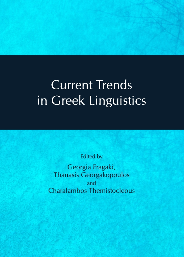 Current Trends in Greek Linguistics