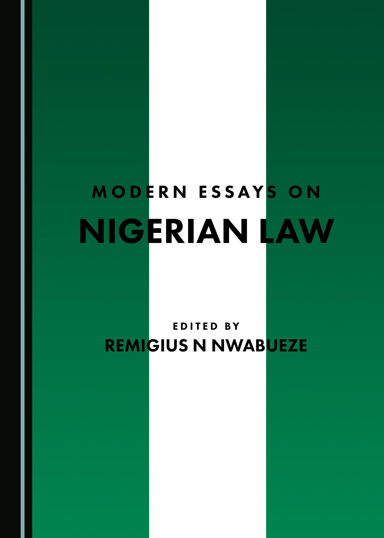 Modern Essays on Nigerian Law